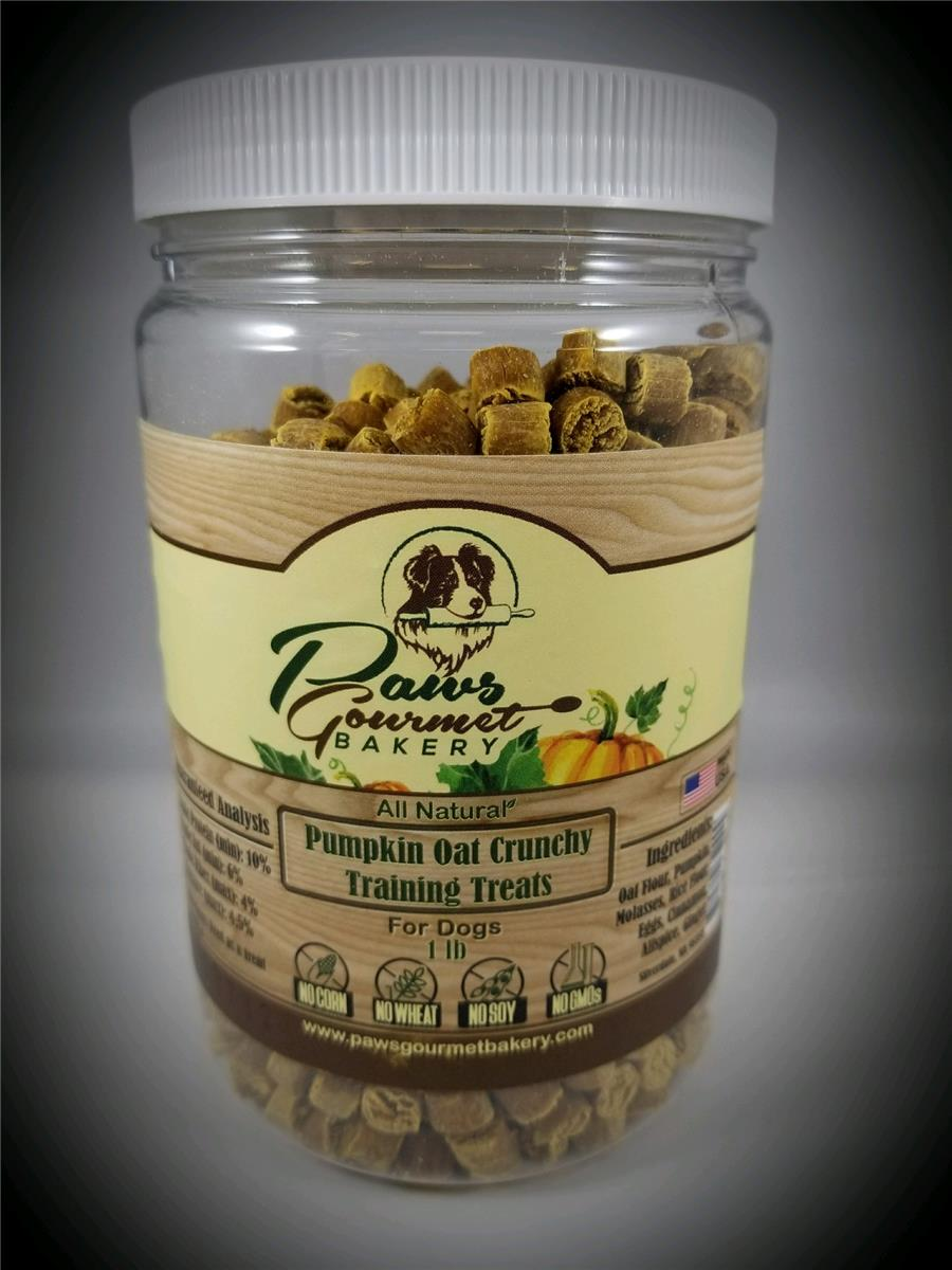 Pumpkin Oat Crunchy Training Treats 1 lb