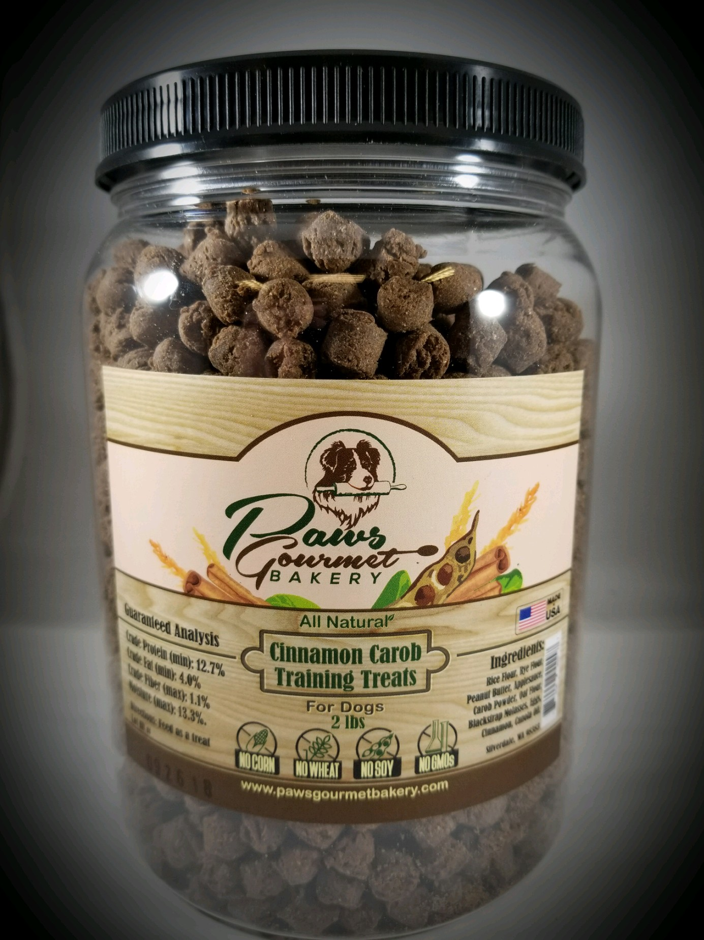 Cinnamon Carob Training Treats 2 lbs