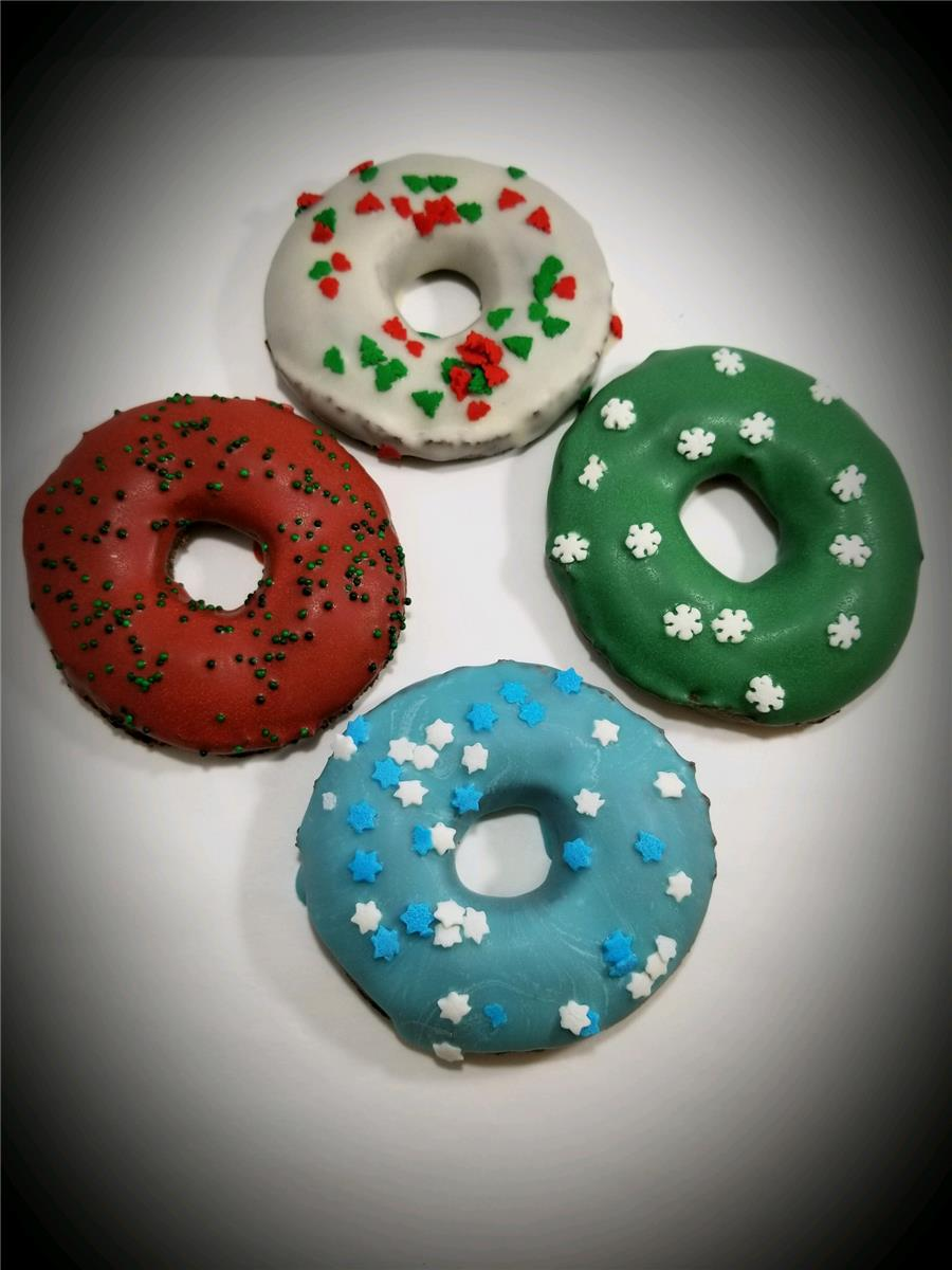 Christmas Doughnuts (Large) - Tray of 16