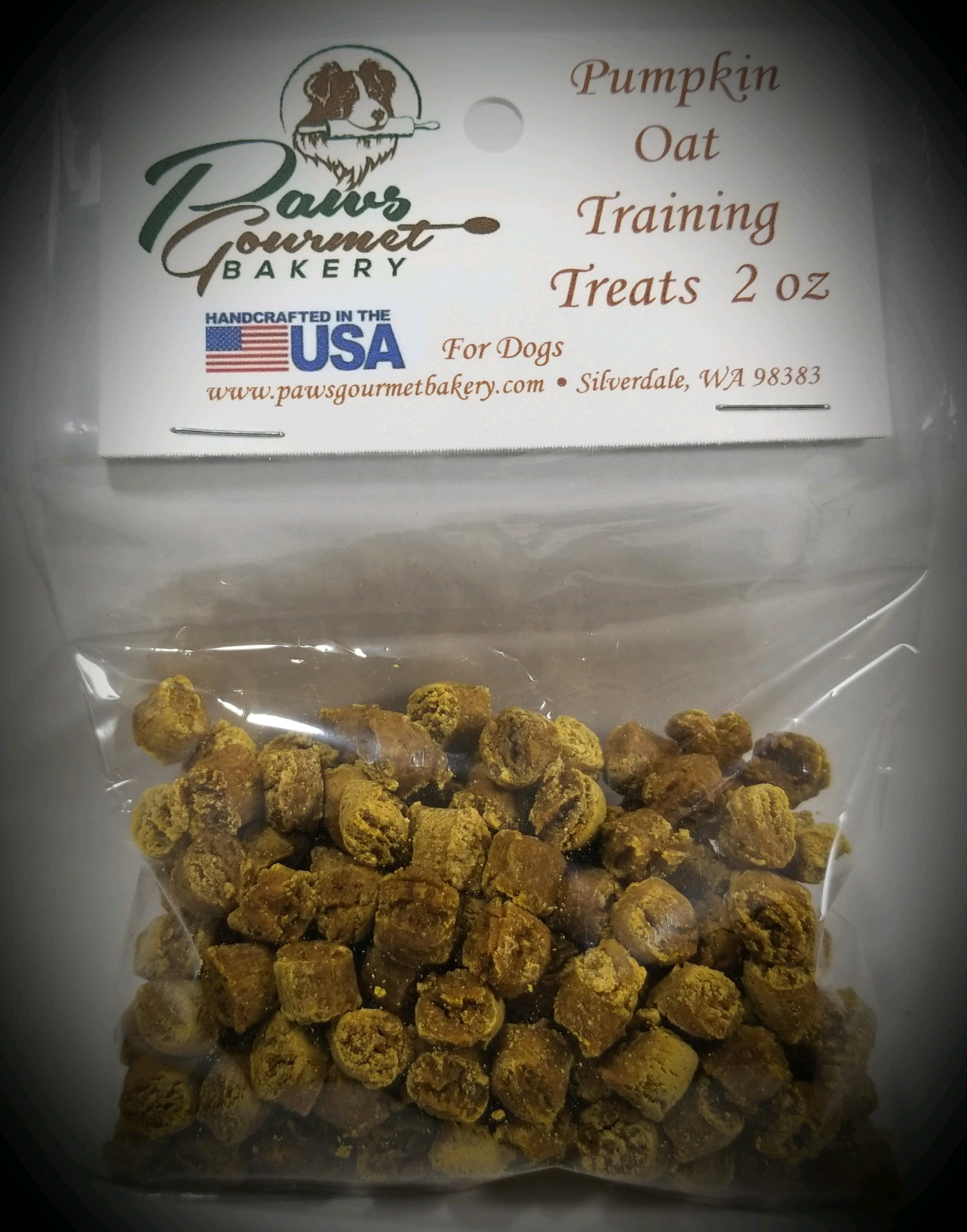 Pumpkin Oat Crunchy Training Treats 2 oz - Box of 6